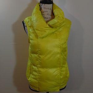 Vince. Neon Yellow Puffer Vest Goose Down NWOT